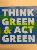 Sticker Think Green Act Green